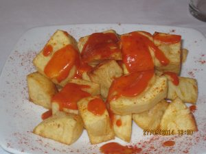 Patatas Bravas - unlike croquetas, the raciones are generous!