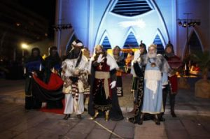 The Three Kings arrive in the port in Torrevieja