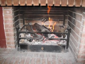 A roaring log fire - and the reality of life on the Costas in winter!