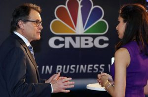 Artur Mas being interviewed in Barcelona by CNBC