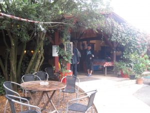 The rustic and welcoming bar area, where I sat and wrote this post