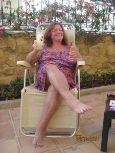 Sandra is back in Spain - and loving it!